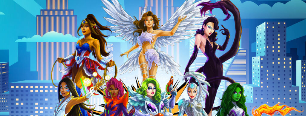 Assembled Group of Cartoon Drag Performers